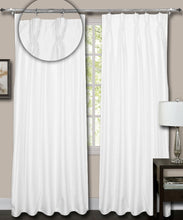 Load image into Gallery viewer, Pinch Pleated White Silk Curtains