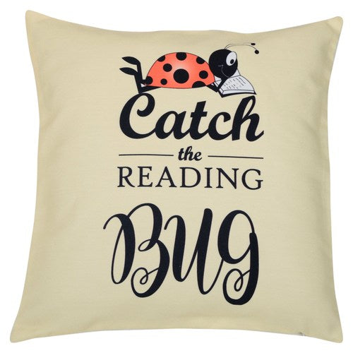 Catch the Reading Bug Cushion Cover