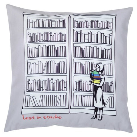 Lost in Stacks Cushion Cover