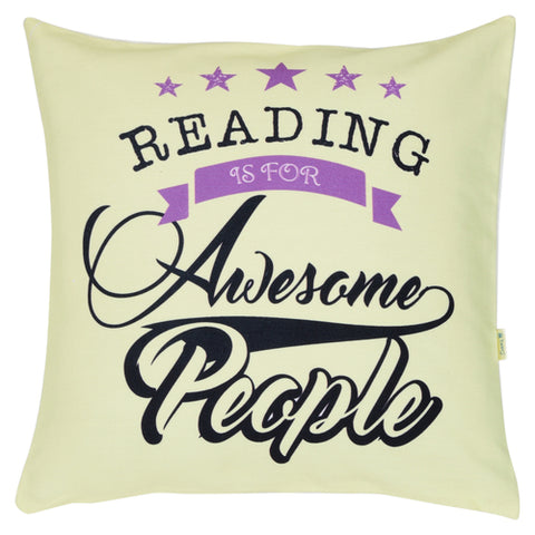 We all have a story to tell & Reading is for Awesome People  Cushion Cover set (Pack of 2)