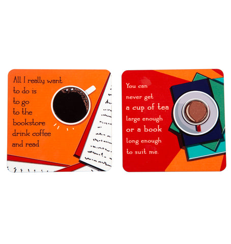 Bibliophile's Coaster Set (Pack of 2)