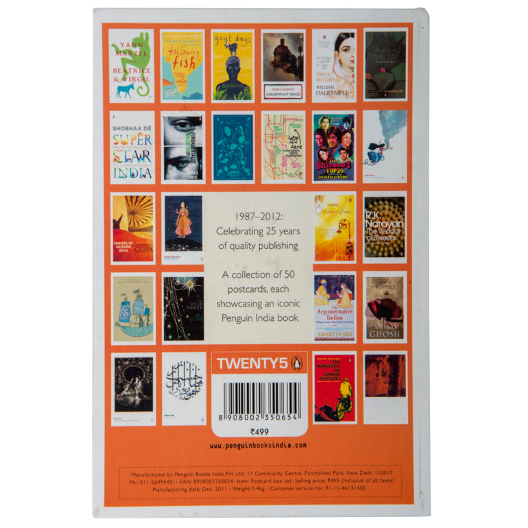 Penguin Books India Postcards (50 book covers in one box)