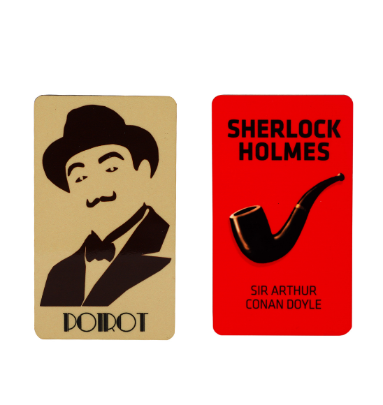 Classic detectives fridge magnets combo pack (Set of 2)