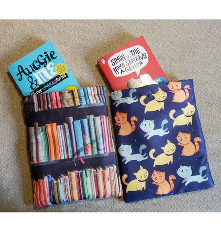 Cute Cats and Library Book Sleeves (Set of 2)