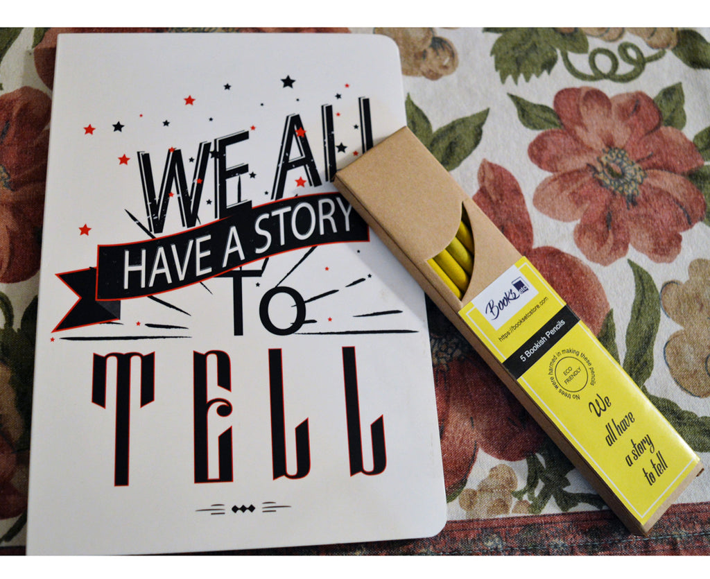 We all have a story to tell - Notebook and Pencils Combo Set