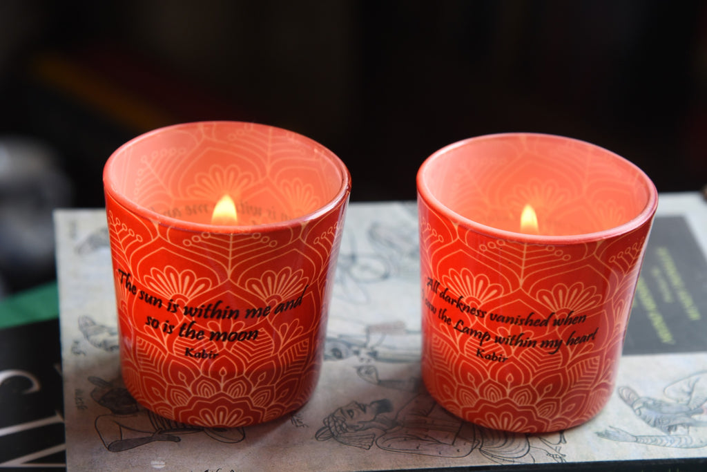 Kabir Candle Votives Set (with Tea Lights)