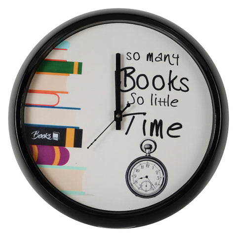 So Many Books So Little Time Wall Clock