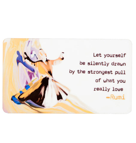 Rumi  Let Yourself Fridge Magnet