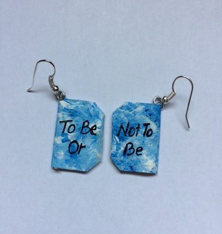 Shakespeare paper earrings