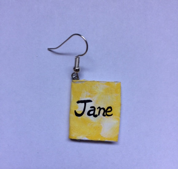 Jane Eyre paper earrings