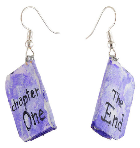 Colored paper earrings (Pack of 2)