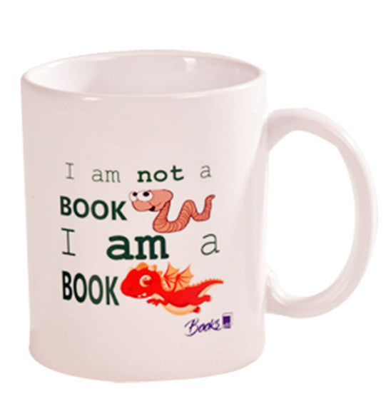 I am not a book worm, I am a book dragon Mug