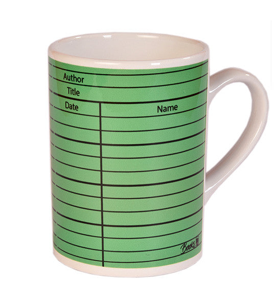 Library Card Set of 2 (Green and Yellow) Mugs