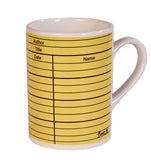Library card (yellow) Mug