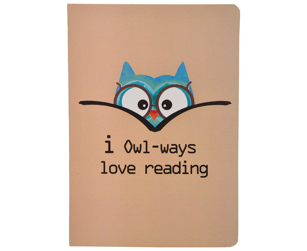 I owl-ways love reading Notebook A5 size