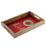 Literary serving gift tray set (Pack of 2)