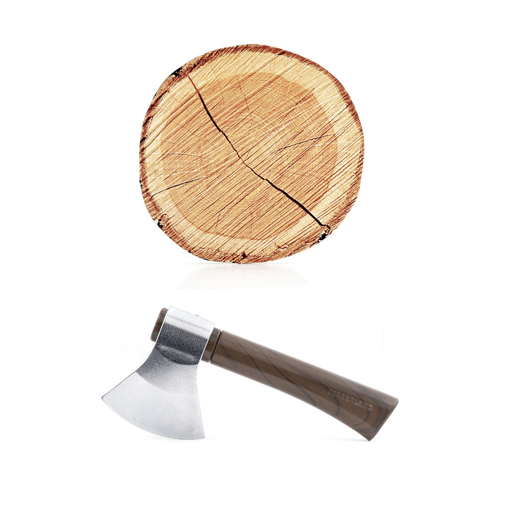Axe Pen and Tree Sticky Note Pad
