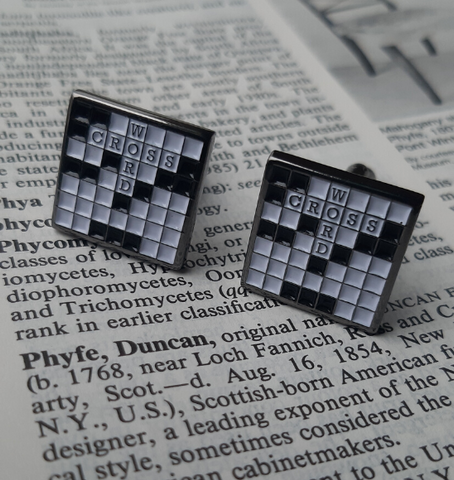 Crossword cufflinks