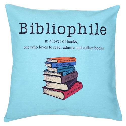 Lubocubicularist & BibliophileCushion Cover set (Pack of 2)