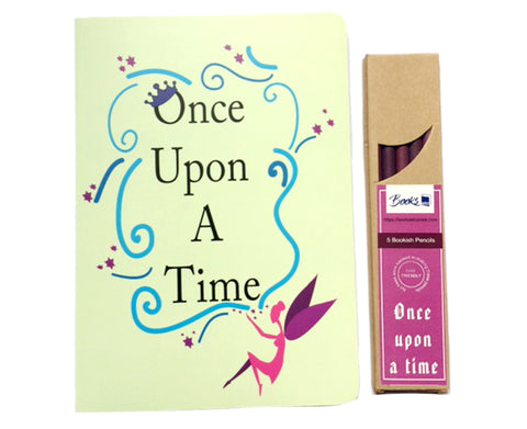 Once upon a time - Notebook and Pencils Combo Set