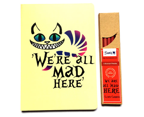 We are all Mad here - Notebook and Pencils Combo Set
