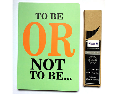 To Be or Not To Be - Notebook and Pencils Combo Set