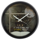 It was a dark and stormy night wall clock