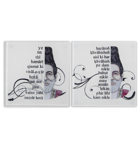 Ghalib coasters set (Set of 2)