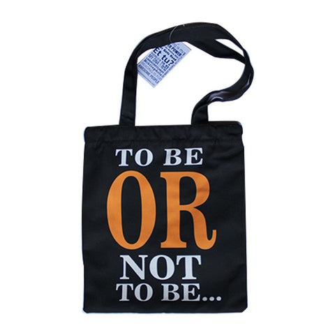 Shakespeare To Be Or Not To be Tote Bag (Black)