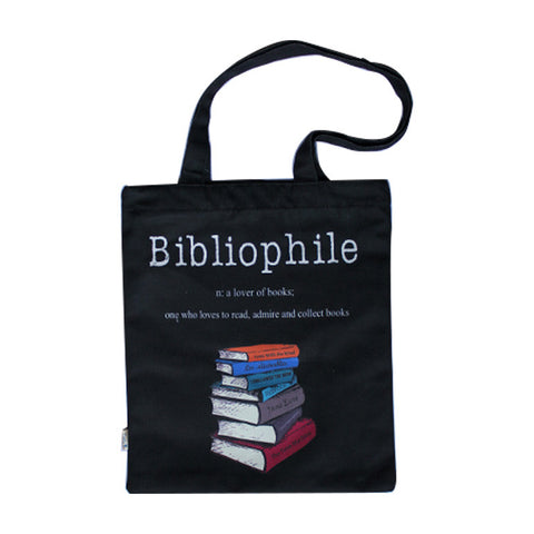 Bibliophile Tote bag (Black)