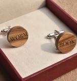 Book Worm Cufflinks