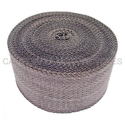 Cinta Anticalorica Escapes Negro Grafito 10M x 50mm Exhaust Pipe Wrap 2