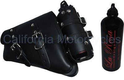 "Alforja ""Solo"" Para Harley-Davidson® Sportster® Left Side Saddle Bag With Bottle"