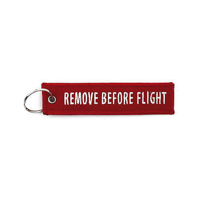 Llavero Remove Before Flight Red Key Ring