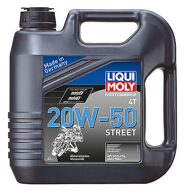 Aceite Mineral Para Harley-Davidson® Liqui-Moly Motorbike 20W50 Street Oil 4L