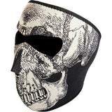 Mascara De Neopreno Neoprene Face Mask Glow In The Dark Skull