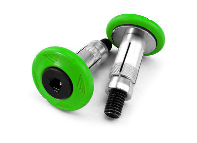 Pareja De Tornillos Topes Manillar 22-28mm Handlebar End Cap Kit Green