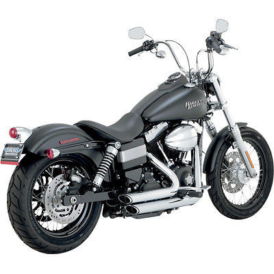 Escape Para Harley-Davidson Dyna '12-Up Vance Hines Shortshots Staggered Chrome