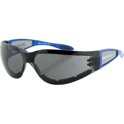 Gafas Para Moto Bobster Shield II Smoked Lens Blue Frame Sunglasses