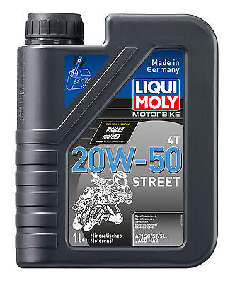 Aceite Mineral Para Harley-Davidson® Liqui-Moly Motorbike 20W-50 Street Oil 1L