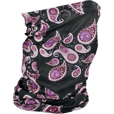 Braga Pañuelo Para Cuello Fleece-Lined Motley Tube Purple Paisley