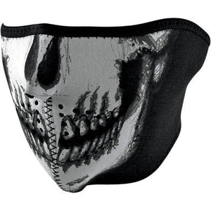 Mascara De Neopreno Neoprene Half Face Mask Skull Face,Glow In The Dark