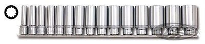 "Juego Llaves Vaso En Pulgadas 1/2"" 12 Point Deep Socket Set"