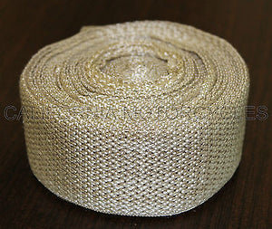 "Cinta Anticalorica Escapes Blanco Marfil 10M X 50Mm Exhaust Pipe Wrap 2"" X 33'"