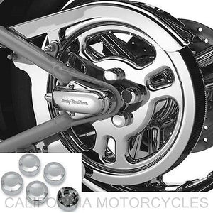 Tapas De Tornillos De Polea Para Harley-Davidson®. Rear Sprocket Bolt Cover Kit