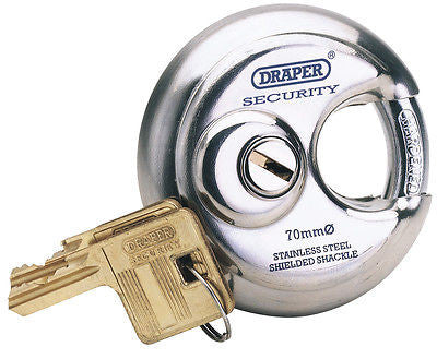 Candado De Seguridad Acero Inoxidable 70Mm Diameter Stainless Steel Padlock