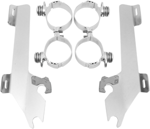 Memphis Shades Polished Stainless Steel Batwing Fairing Trim Accent Harley