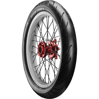 AV91 Cobra Chrome 130 /70VR18 Blackwall Front Tire