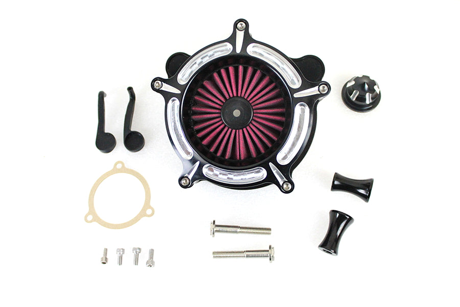 Contrast Cut Turbine Air Cleaner Kit For Harley-Davidson 2008 And Later