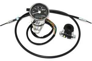 Mini 60mm MPH Speedometer 2:1 Ratio For Harley-Davidson